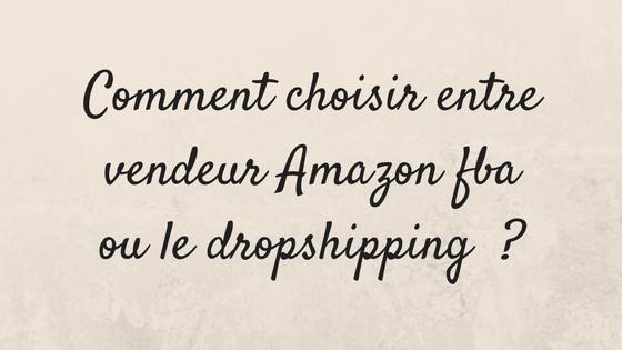 Comment choisir entre vendeur Amazon fba ou dropshipping ?