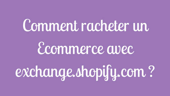 Comment racheter un Ecommerce avec exchange.shopify.com _